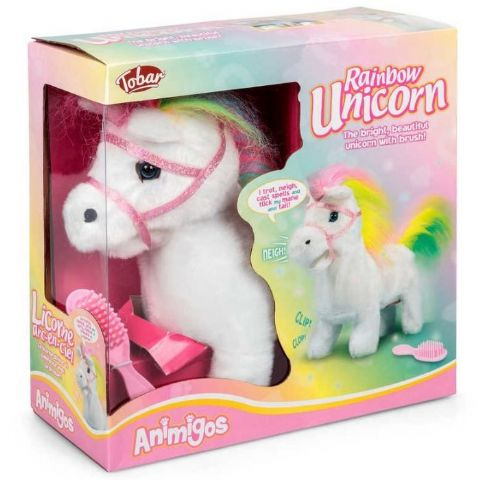 Rainbow Unicorn Animigos Plush Toy Tobar 18m+